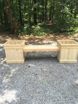 Double planter with bench in Aiken, South Carolina