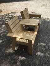 Double seat with table in Aiken, South Carolina