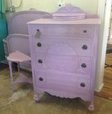 Dresser Girls bedroom  Purples nightstand full bed available in Naperville, Illinois