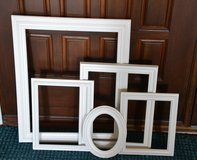 Group of picture frames Large frames . finished in a white  sizes in picture in Morris, Illinois
