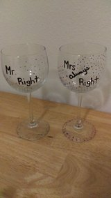 Handpainted wine glasses in Fort Lewis, Washington