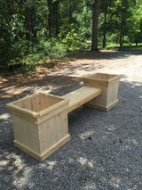 Double planter with bench in Beaufort, South Carolina