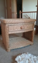 Natural wicker nightstand/end table in Chicago, Illinois