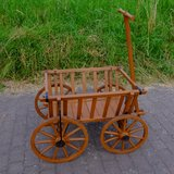Antique Wooden Wagon Bavaria Style in Ramstein, Germany