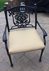 Hanamint brand ( Tuscan Collection)  4 Turin chairs with pads/patio furniture in Batavia, Illinois