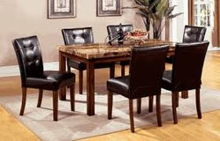 Marble Table Top with 6 chairs in Fort Irwin, California