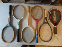 six tennis rackets in Conroe, Texas
