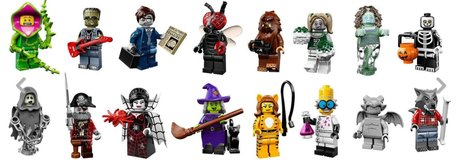 Complete Set of LEGO Series 14 Monsters Minifigures in 29 Palms, California