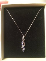 White Gold Diamonds and Sapphire Necklace in 29 Palms, California