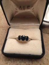 14k White Gold Past Present Future Sapphire and diamond ring in 29 Palms, California