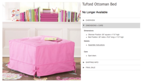 Pottery Barn Teen Tufted Ottoman Bed in Ramstein, Germany