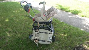 Car seat ,base and snap and go stroller in Batavia, Illinois