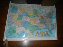 American Map Colorprint of United States USA America w/ Highways 1992 in Houston, Texas
