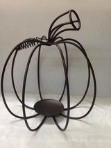 Rod Iron Pumpkin Candle Holder in Houston, Texas