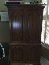 Tell City Solid Oak Armoire in Kingwood, Texas