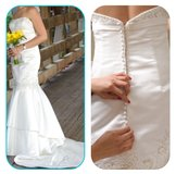 Wedding Dress by Impressions Mermaid fit in Naperville, Illinois