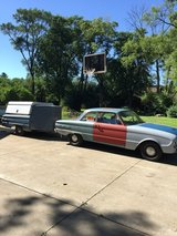 Ford Falcon and enclosed trailer both 1961, car runs and drives good, 6 cyl. 3 spd. Needs restor... in Schaumburg, Illinois