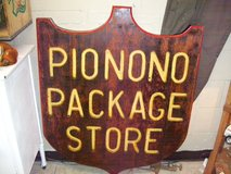 Vintage Pio Nono Package store sign in Warner Robins, Georgia