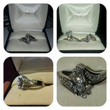 Diamond Bridal Set- 1 CT tw Marquise -cut 14kt White Gold in Cleveland, Texas