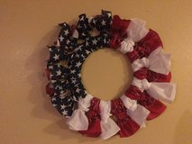 Patriotic wreath in Fort Bliss, Texas