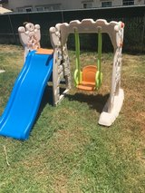Slide and swing in San Clemente, California