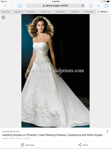 Alfred angelo wedding dress in Alamogordo, New Mexico
