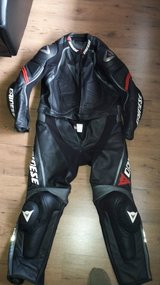 Dainese Laguna Seca 2 Piece race suit w/certified Dainese elbow,knee and chest protector in Mannheim, GE
