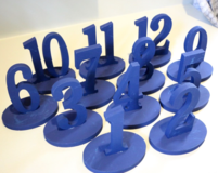 1-12 Blue Wooden Table Numbers in Beaufort, South Carolina