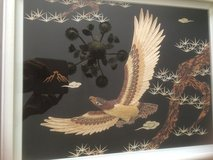 Very nice picture eagle behind glass in Ramstein, Germany