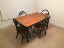 Kitchen table with four chairs in Tyndall AFB, Florida