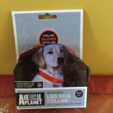 Animal Planet LED Dog Collar with Flash & Glow Settings - Red BRAND NEW in Morris, Illinois