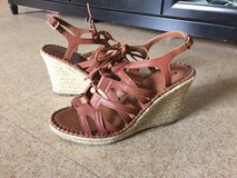 Brown wedges size 8 worn once in Okinawa, Japan