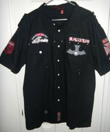 Mens 3X Request Black Dark Angel Gothic Cross Patch Shirt AWESOME in Kingwood, Texas