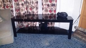 Hard Black glass TV Stand in Hinesville, Georgia