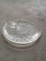 Set of glass party plates and cups in Okinawa, Japan