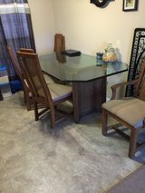 Glass table w 4 chairs in Fort Rucker, Alabama