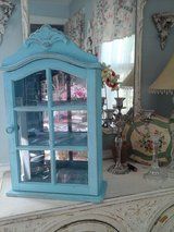 pretty shabby chic turquoise wall cabinet in Bolingbrook, Illinois