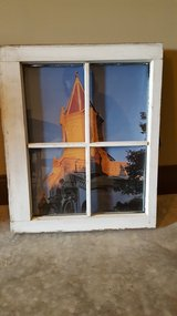 Wooden window as picture frame in Warner Robins, Georgia