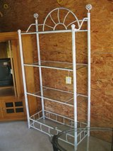 Tall White Metal Baker's Rack (1265-2047) in Camp Lejeune, North Carolina