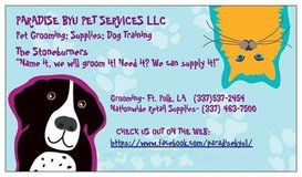Pet Grooming, Supplies and Critter Taxi in Fort Polk, Louisiana