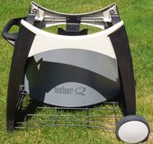 Weber Q Stationary Grill Cart and cover in Lockport, Illinois