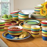 FIESTA HAND-PAINTED STONEWARE DINNER SET (24 PIECES) in Alamogordo, New Mexico