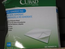 3 X 4 Inch  Sterile Non Adherent  Pads BOX OF 100 - New - Curad in Houston, Texas