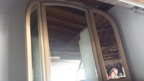 Tri fold wood mirror in Yucca Valley, California
