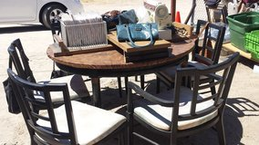 Table 2 leafs and 6 chairs in Yucca Valley, California