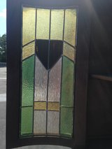 Oak Cabinet W/ Stain Glass BOW Top Doors in Cherry Point, North Carolina