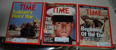 Time Magazines on the Gulf War in Lawton, Oklahoma