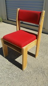 Red chair, two in Fort Irwin, California