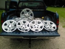 "2014  16""Stock(5) Jeep wheels and(4) covers in Spring, Texas"