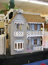 Balsa Wood Doll House + Accessories (2055-216) in Camp Lejeune, North Carolina